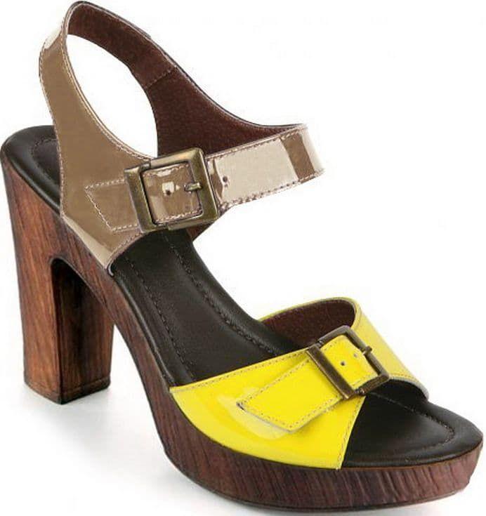 Ralf Ringer Style 973001ЖТ Весна-Лето 2015Босоножки<br>Яркие босоножки как будто бы специально созданы для ношения в жаркие летние дни. Эта обувь является удачным сочетанием удобства и последних тенденций 2015 года. Босоножки выполнены из лаковой кожи в стиле colorblock и имеют аккуратную декоративную пряжку. Благодаря устойчивому каблуку, прочной подошве и плотной застежке Вы будете чувствовать себя комфортно на протяжении всего дня.<br><br>Цвет: Желтый<br>Размер RU: 40<br>vendorCode: None<br>Пол: Женский<br>Возраст: Взрослый<br>Сезон: Лето<br>Материал верха: Лак<br>Материал подкладки: Кожа<br>Материал подошвы: ПУ