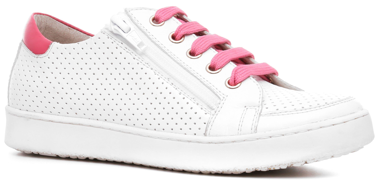 Ralf Ringer Weekend 873102БР Весна-Лето 2017Кеды<br>Удивительной красоты белые демисезонные кеды KATY-D для девочек. Обувь со своим лицом. Его создают: шнуровка красным шнурком (и такого же цвета полоска над задником), параллельная к ней белая молния, бортопрошивная подошва ТЭП. В соответствии с концепцией...<br><br>Цвет: Белый<br>Размер RU: 32<br>Пол: Женский<br>Возраст: Детский<br>Сезон: Лето<br>Материал верха: Натуральная кожа<br>Материал подкладки: Натуральная кожа<br>Материал подошвы: ТЭП