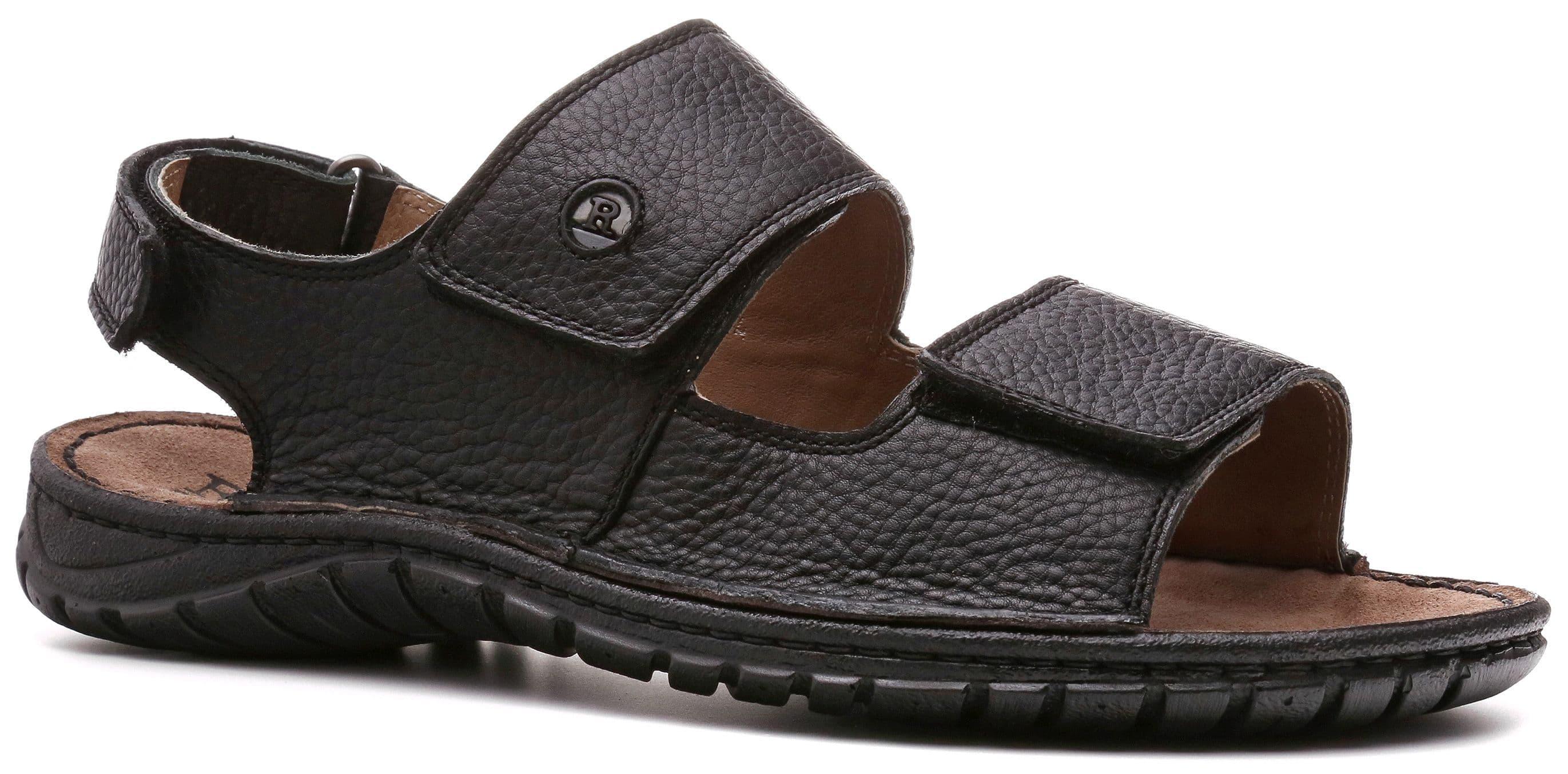 Ralf Ringer Weekend 477007ЧН Весна-Лето 2017Сандалии<br>Черный цвет кожаных сандалий Josef с двумя широкими ремешками на липучках делают их универсальной летней обувью, которая подходит к любому гардеробу в стиле кэжуал. Отличное решение для пляжного отдыха. Это воплощение комфорта принадлежит к линии уикэнд. ...<br><br>Цвет: Черный<br>Размер RU: 44<br>Пол: Мужской<br>Возраст: Взрослый<br>Сезон: Лето<br>Материал верха: Натуральная кожа<br>Материал подкладки: Натуральная кожа<br>Материал подошвы: ПУ
