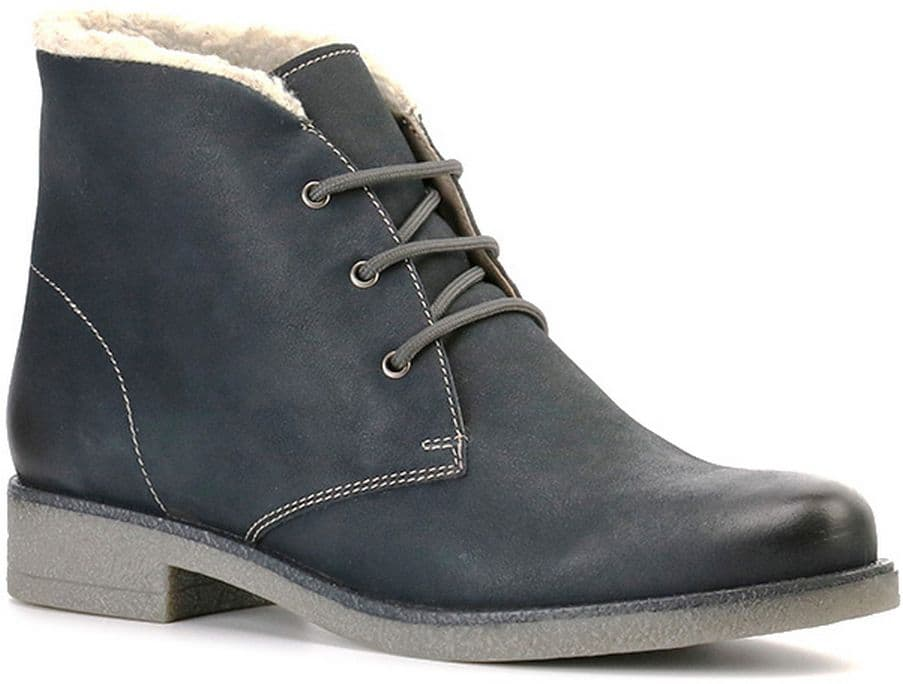Ботинки Ralf RingerБотинки<br>Кожаные ботинки синего цвета - идеальный вариант на снежную зиму. Благодаря натуральному меху Ваши ноги останутся в тепле. Подошва из материала ТЭП, небольшой каблук и закругленный мыс гарантируют удобство носки. Шнуровка надежно фиксирует ногу, а белый мех, обрамляющий верх изделия, делает образ завершенным.<br><br>Наименование: Ralf Ringer Weekend 945204ТСЧ Осень-Зима 2016-17<br>Цвет: Темно-синий<br>Размер RU: 40<br>vendorCode: None<br>Пол: Женский<br>Возраст: Взрослый<br>Сезон: Зима<br>Материал верха: Натуральная кожа<br>Материал подкладки: Мех (шерсть)<br>Материал подошвы: ТЭП