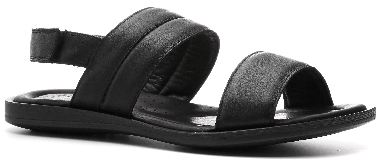 Ralf Ringer Weekend 512010ЧН Весна-Лето 2017Сандалии<br>В этих черных сандалиях можно показаться не только на пляже. Качественное изготовление, два широких ремешка, охватывающие ступню сверху и один позади пятки — это уже стиль, а не намек на него. Кожаные верх, подкладка и стелька, износостойкая полиуретанова...<br><br>Цвет: Черный<br>Размер RU: 45<br>Пол: Мужской<br>Возраст: Взрослый<br>Сезон: Лето<br>Материал верха: Натуральная кожа<br>Материал подкладки: Натуральная кожа<br>Материал подошвы: ПУ
