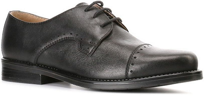 Ralf Ringer Business 874108ЧН8 Осень-Зима 2016-17Полуботинки<br>Данная модель отлично подойдет для школы. Благодаря удобной колодке ноги в такой обуви не чувствуют усталости. Удобная шнуровка позволяет быстро надеть полуботинки и также быстро их снять, что очень актуально для активного ребенка. Пара украшена стильной перфорацией.<br><br>Цвет: Черный<br>Размер RU: 38<br>vendorCode: None<br>Пол: Мужской<br>Возраст: Детский<br>Сезон: Деми<br>Материал верха: Натуральная кожа<br>Материал подкладки: Натуральная кожа<br>Материал подошвы: ТЭП