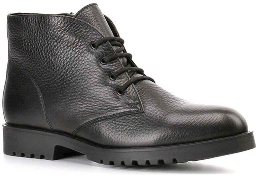 Ботинки Ralf RingerБотинки<br>Трендовые ботинки из линии Lady Grand идеально впишутся в Ваш повседневный гардероб! Модель выполнена из натуральной кожи черного цвета. Натуральный мех защитит ноги от зимних холодов. Шнуровка в тон обеспечит хорошую фиксацию обуви на ноге. Ботинки великолепно будут смотреться с джинсами или узкими брюками.<br><br>Наименование: Ralf Ringer Modern 959204ЧНЧ Осень-Зима 2016-17<br>Цвет: Черный<br>Размер RU: 37<br>vendorCode: None<br>Пол: Женский<br>Возраст: Взрослый<br>Сезон: Зима<br>Материал верха: Натуральная кожа<br>Материал подкладки: Мех (шерсть)<br>Материал подошвы: ПУ