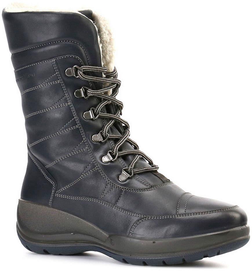 Ralf Ringer Weekend 740310СНМ Осень-Зима 2016-17Высокие ботинки<br>Теплые полусапожки на толстой подошве – необходимый вариант обуви для зимних прогулок. Модель выполнена из натуральной кожи и оснащена пл...<br><br>Цвет: Темно-синий<br>Размер RU: 36<br>Пол: Женский<br>Возраст: Взрослый<br>Сезон: Зима<br>Материал верха: Натуральная кожа<br>Материал подкладки: Мех натуральный<br>Материал подошвы: ПУ+ТПУ