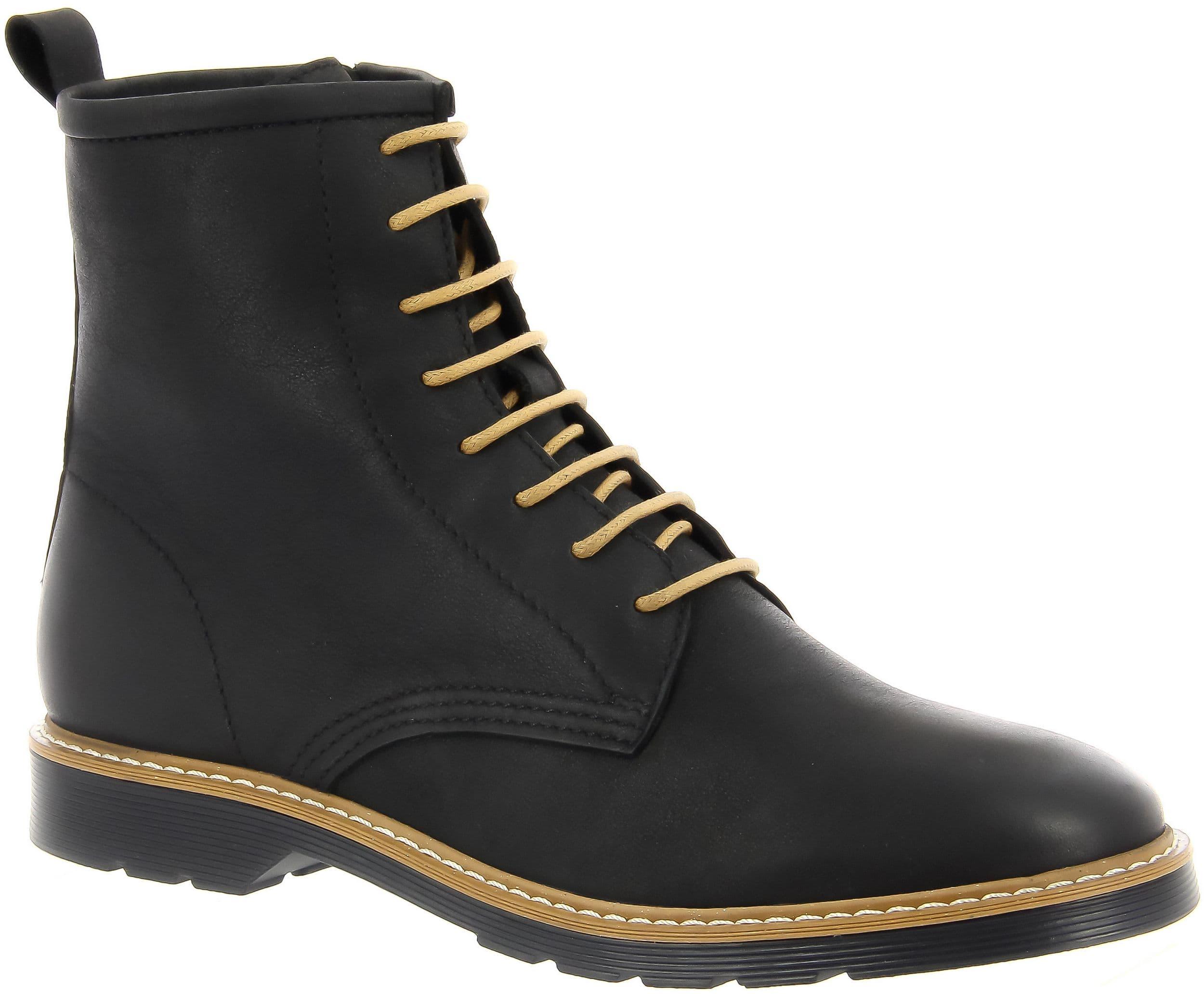 Высокие ботинки женские LETTY (цвет черный, натуральная кожа ... e00d6d7cb50